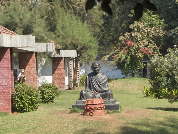 Mahatma Gandhi's Statue at Sabarmati Ashram. Photo Credit: Wikipedia
